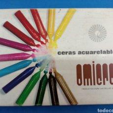 Arte: CAJA DE CERAS ACUARELABLES OMICRON 24 UNIDADES , AÑOS 1970. Lote 152194270