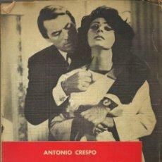 Arte: EL GUIÓN DE CINE, ANTONIO CRESPO.MURCIA 1966, 141 PÁGINAS. Lote 155990814