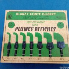 Arte: EXPOSITOR DE PLUMILLAS ,BLANZY- CONTÉ-GISBERT , AÑOS 1960-70. Lote 156090989