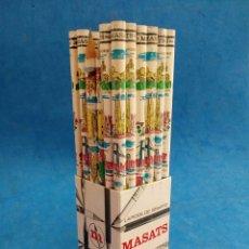 Arte: LOTE DE CAJA 36 LÁPICES DE CEDRO Y GRAFITO ,MASATS , AÑOS 1960-70 CAPITALES DE ESPAÑA. Lote 156254873