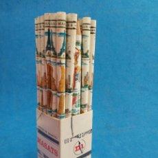 Arte: LOTE DE 36 LAPICES DE CEDRO Y GRAFITO ,MASATS , AÑOS 1960-70 , CAPITALES DEL MUNDO. Lote 156257894