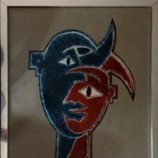 Arte: HOMBRE EN CONFLICTO CONSIGO MISMO. Lote 156755318