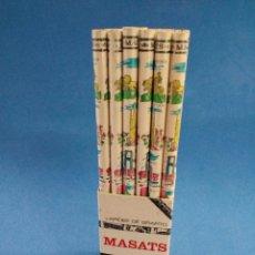 Arte: LOTE DE 36 LAPICES DE CEDRO Y GRAFITO , MASATS , AÑOS 1960-70 , CAPITALES DE ESPAÑA. Lote 162077089