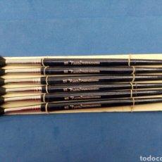Arte: LOTE DE 6 PINCELES DE PELO PURO N°11 PAGODA , TYPE 25 , MADE IN CHINA , AÑOS 1960-70. Lote 162625608