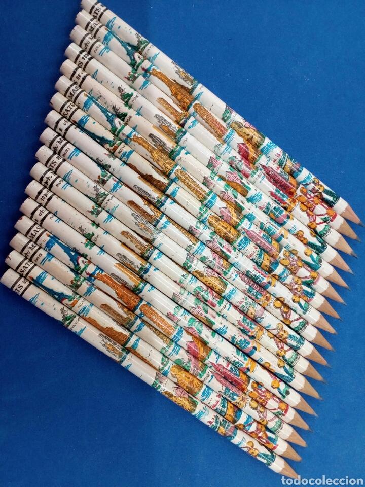 LOTE DE 17 LAPICES MASATS , CAPITALES DEL MUNDO , AÑOS 1960-70 (Arte - Material de Bellas Artes)