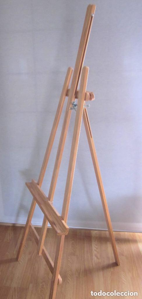 Arte: Gran caballete de pintor madera 180 cm x 60 cm sin uso nuevo SÓLO RECOGER - Foto 2 - 164691890