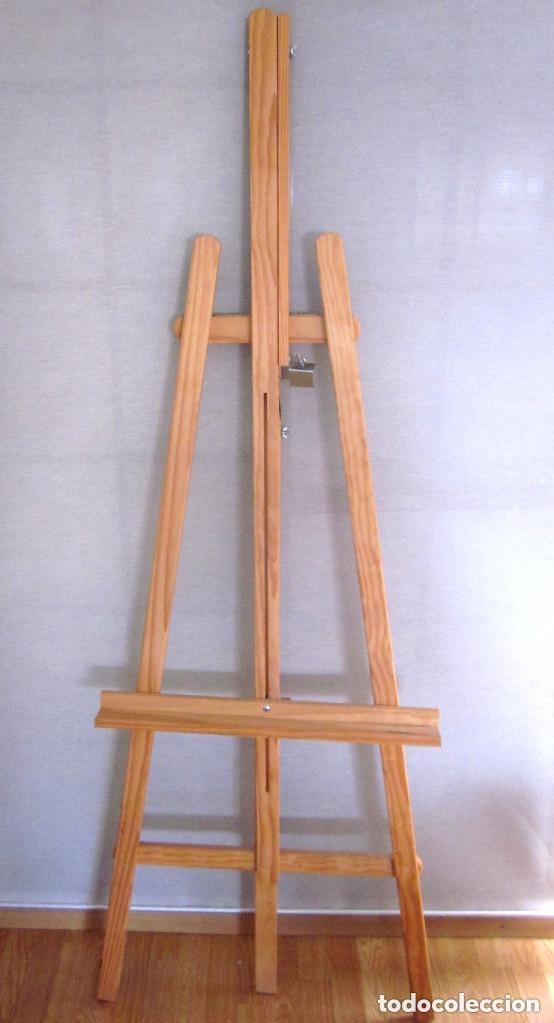 Arte: Gran caballete de pintor madera 180 cm x 60 cm sin uso nuevo SÓLO RECOGER - Foto 3 - 164691890