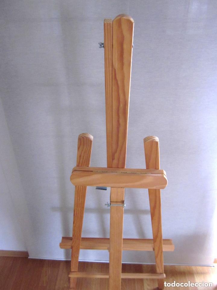 Arte: Gran caballete de pintor madera 180 cm x 60 cm sin uso nuevo SÓLO RECOGER - Foto 5 - 164691890