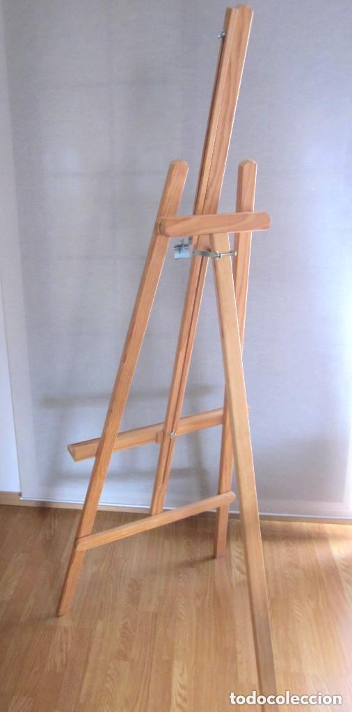 Arte: Gran caballete de pintor madera 180 cm x 60 cm sin uso nuevo SÓLO RECOGER - Foto 6 - 164691890