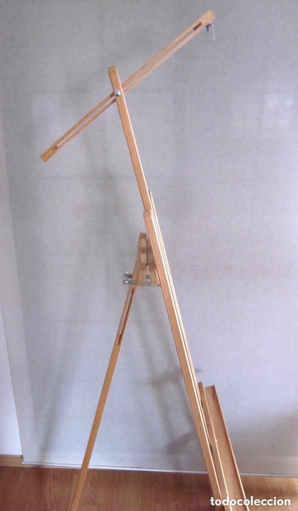 Arte: Gran caballete de pintor madera 180 cm x 60 cm sin uso nuevo SÓLO RECOGER - Foto 9 - 164691890