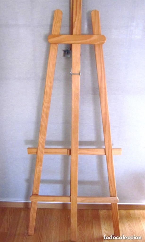 Arte: Gran caballete de pintor madera 180 cm x 60 cm sin uso nuevo SÓLO RECOGER - Foto 10 - 164691890