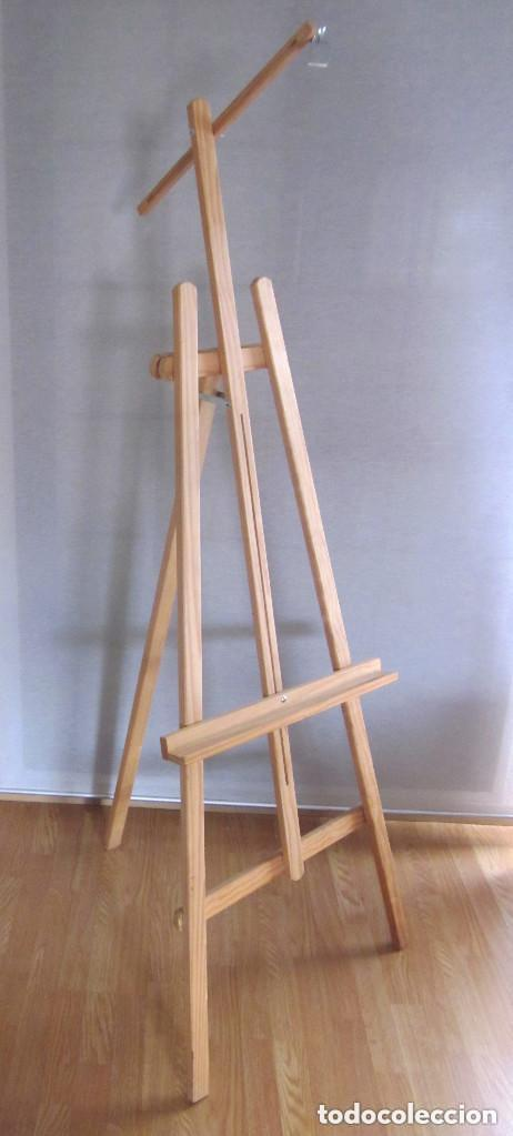 Arte: Gran caballete de pintor madera 180 cm x 60 cm sin uso nuevo SÓLO RECOGER - Foto 11 - 164691890