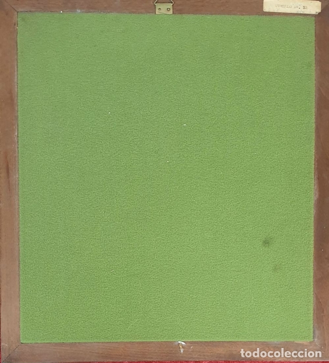 Arte: PAISAJE. ESMALTE SOBRE METAL. MARCO DE PLATA. UTRILLO. SIGLO XX. - Foto 2 - 165942730