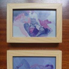 Arte: EMILIA CASTAÑEDA FOTOGRAFÍAS ORIGINALES DE ESTUDIO ACUARELAS DESNUDOS FEMENINOS. Lote 169084384