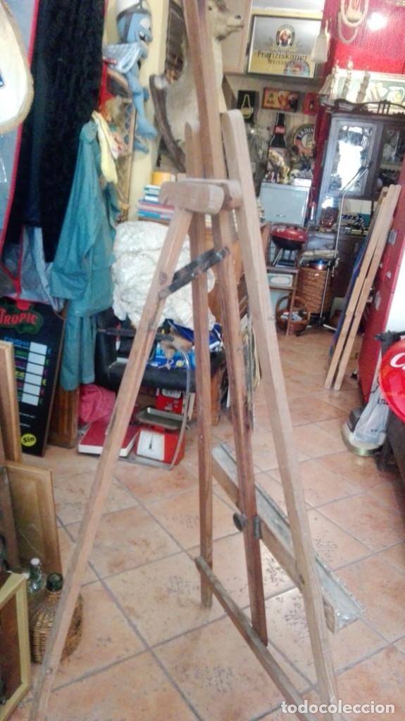 ANTIGUO CABALLETE DE PINTOR GRAN TAMAÑO DE PINO (Arte - Material de Bellas Artes)