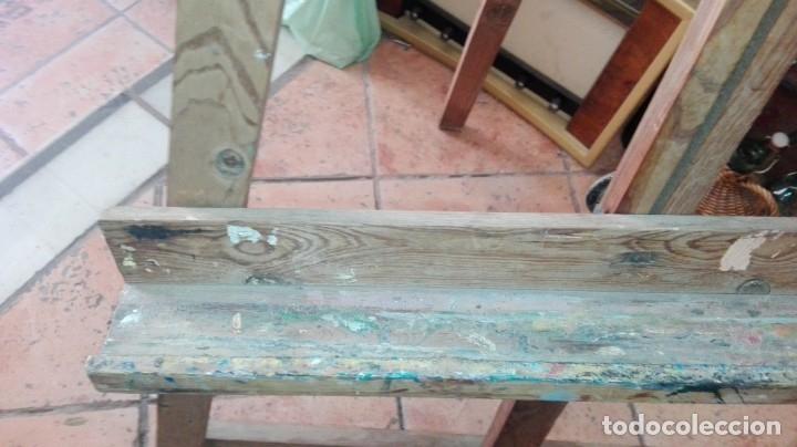 Arte: antiguo caballete de pintor gran tamaño de pino - Foto 3 - 173794972