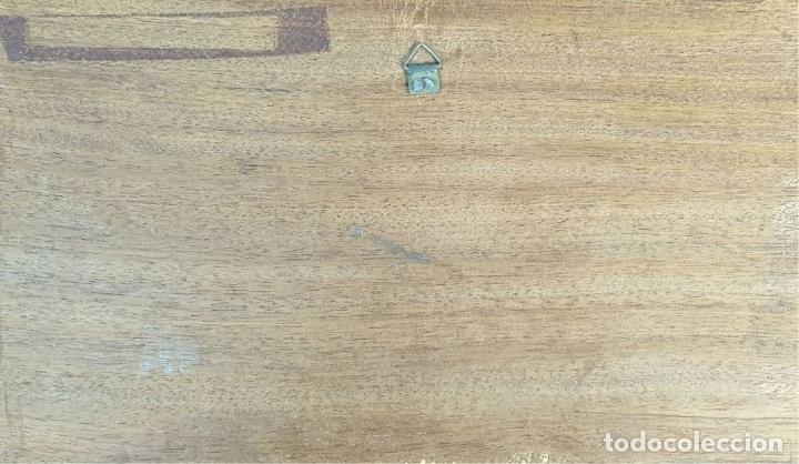 Arte: LA SANTA CENA. METAL ESMALTADO. BASE DE MADERA. SIGLO XX. - Foto 2 - 178400498