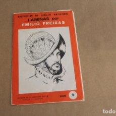 Arte: LECCIONES DE DIBUJO ARTÍSTICO, LAMINAS POR EMILIO FREIXAS, SERIE NÚMERO 9. Lote 178884243