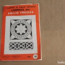 Arte: LECCIONES DE DIBUJO ARTÍSTICO, LAMINAS POR EMILIO FREIXAS, SERIE NÚMERO 16. Lote 178884878