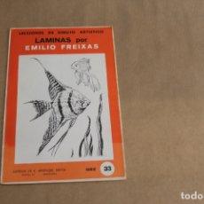 Arte: LECCIONES DE DIBUJO ARTÍSTICO, LAMINAS POR EMILIO FREIXAS, SERIE NÚMERO 33. Lote 178885023