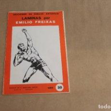 Arte: LECCIONES DE DIBUJO ARTÍSTICO, LAMINAS POR EMILIO FREIXAS, SERIE NÚMERO 30. Lote 178885046