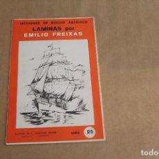 Arte: LECCIONES DE DIBUJO ARTÍSTICO, LAMINAS POR EMILIO FREIXAS, SERIE NÚMERO 25. Lote 178885107