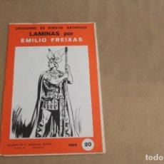 Arte: LECCIONES DE DIBUJO ARTÍSTICO, LAMINAS POR EMILIO FREIXAS, SERIE NÚMERO 20. Lote 178885206