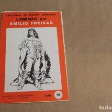 Arte: LECCIONES DE DIBUJO ARTÍSTICO, LAMINAS POR EMILIO FREIXAS, SERIE NÚMERO 15. Lote 178885236
