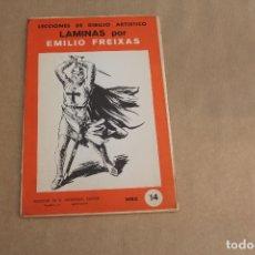 Arte: LECCIONES DE DIBUJO ARTÍSTICO, LAMINAS POR EMILIO FREIXAS, SERIE NÚMERO 14. Lote 178885271