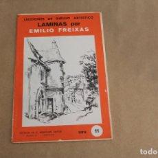 Arte: LECCIONES DE DIBUJO ARTÍSTICO, LAMINAS POR EMILIO FREIXAS, SERIE NÚMERO 11. Lote 178885305