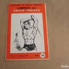 Arte: LECCIONES DE DIBUJO ARTÍSTICO, LAMINAS POR EMILIO FREIXAS, SERIE NÚMERO 10. Lote 178885330