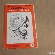 Arte: LECCIONES DE DIBUJO ARTÍSTICO, LAMINAS POR EMILIO FREIXAS, SERIE NÚMERO 9. Lote 178885381