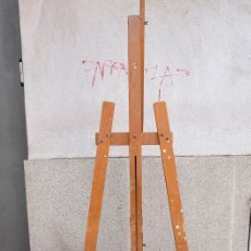 Arte: CABALLETE DE PINTOR DE MADERA. COMPLETO. Lote 180211525