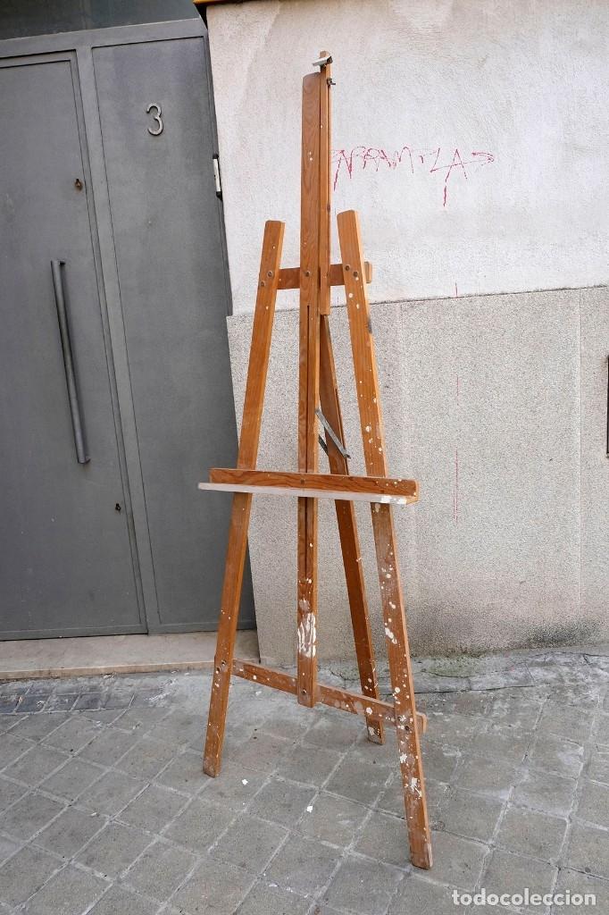 Arte: Caballete de pintor de madera. Completo - Foto 2 - 180211525