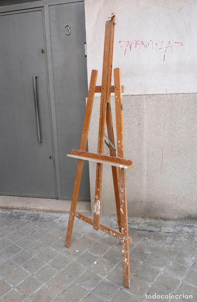 Arte: Caballete de pintor de madera. Completo - Foto 3 - 180211525