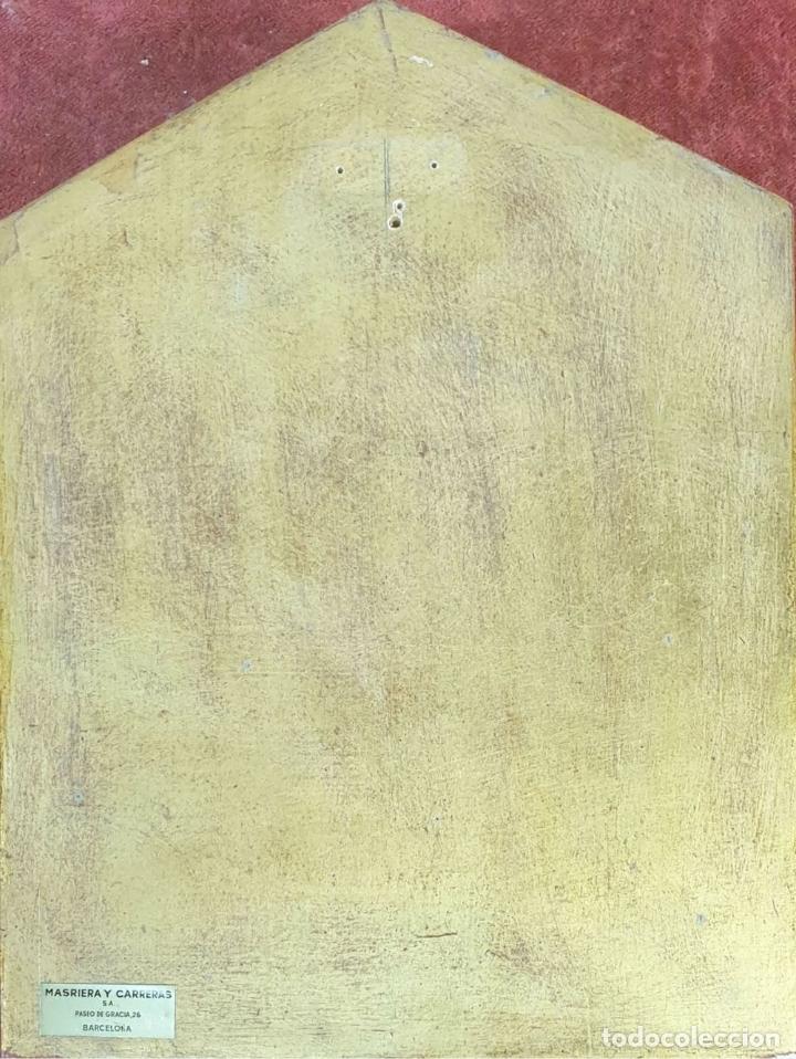 Arte: VIRGEN CON NIÑO. METAL ESMALTADO. MARCO DE MADERA. SIGLO XX. - Foto 2 - 180314916