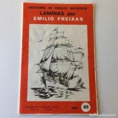 Arte: LECCIONES DE DIBUJO ARTÍSTICO - LAMINAS POR EMILIO FREIXAS SERIE 25 - COMPLETA CON 12 LÁMINAS. Lote 192258932