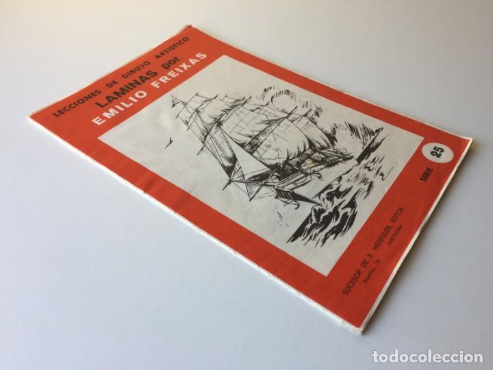 Arte: LECCIONES DE DIBUJO ARTÍSTICO - LAMINAS POR EMILIO FREIXAS SERIE 25 - COMPLETA CON 12 LÁMINAS - Foto 3 - 192258932