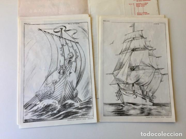 Arte: LECCIONES DE DIBUJO ARTÍSTICO - LAMINAS POR EMILIO FREIXAS SERIE 25 - COMPLETA CON 12 LÁMINAS - Foto 5 - 192258932