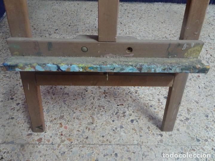 Arte: ANTIGUO CABALLETE DE PINTOR 170 cm , BASE 48 cm , VER ESTADO Y FOTOS - Foto 3 - 203903846