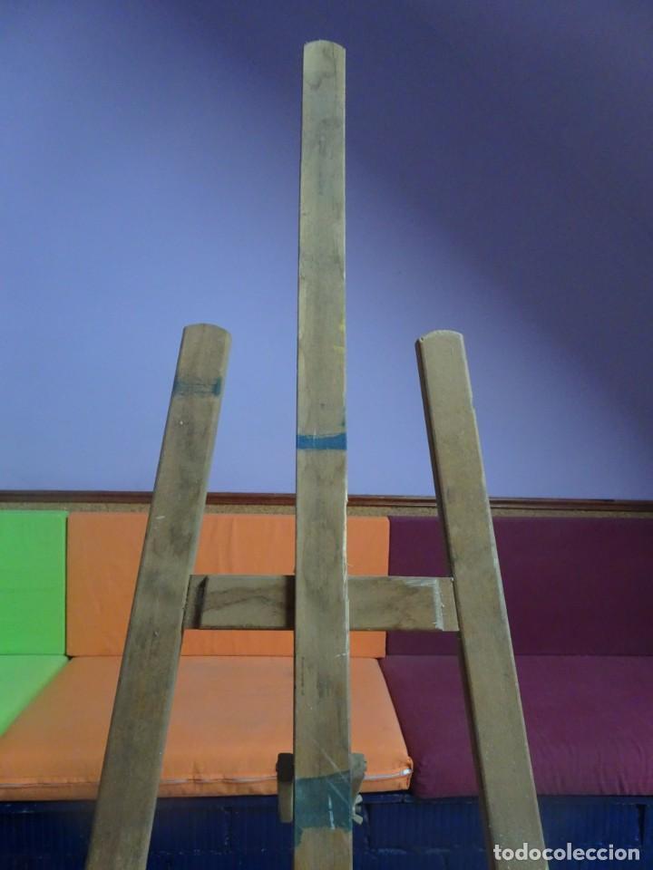Arte: ANTIGUO CABALLETE DE PINTOR 170 cm , BASE 48 cm , VER ESTADO Y FOTOS - Foto 5 - 203903846