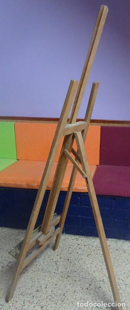 Arte: ANTIGUO CABALLETE DE PINTOR 170 cm , BASE 48 cm , VER ESTADO Y FOTOS - Foto 6 - 203903846