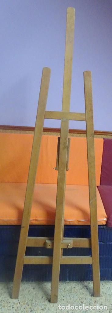Arte: ANTIGUO CABALLETE DE PINTOR 170 cm , BASE 48 cm , VER ESTADO Y FOTOS - Foto 9 - 203903846
