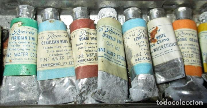 Arte: ANTIGUA CAJA METÁLICA A.W. FABER CASTELL CON 12 TUBOS DE ACUARELAS REEVES LONDON. - Foto 6 - 205129557