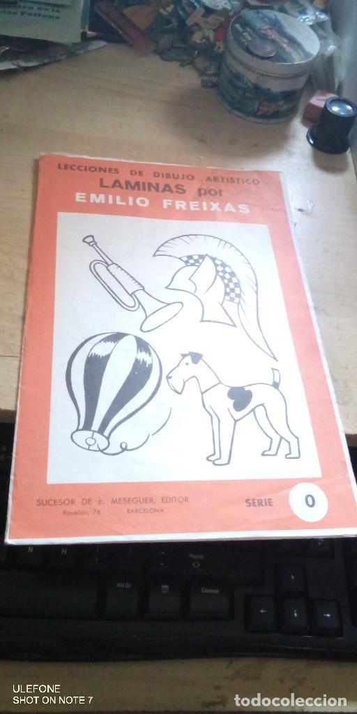 LECCIÓN DE DIBUJO ARTISTICO EMILIO FREIXAS. SERIE 0.12 LÁMINAS, COMPLETA. E. MESEGUER. (Arte - Material de Bellas Artes)