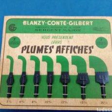 Arte: EXPOSITOR DE PLUMILLAS ,BLANZY-CONTÉ-GISBERT , AÑOS 1960-70. Lote 226891705