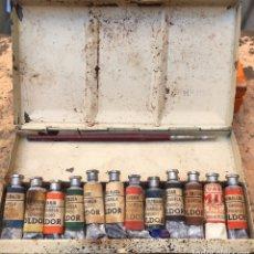 Arte: CAJITA METÁLICA DE ACUARELAS EN TUBOS MARCA OLDOR. 16'5X9CM. AÑOS 50/60. Lote 211461912