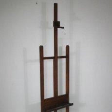 Arte: ANTIGUO CABALLETE DE PINTOR - MADERA DE ROBLE - 8 RUEDAS METÁLICAS - AÑOS 40. Lote 213049350