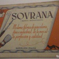 Arte: ANTIGUO CATALOGO SOVRANA.FABRICA DE PINCELES FINOS.NATALIO DI MAURO.BARCELONA-MILAN.. Lote 216621752