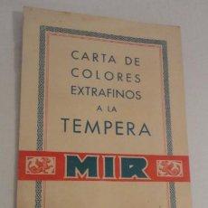 Arte: ANTIGUA CARTA DE COLORES EXTRAFINOS.TEMPERA MIR.F.JAURENA.BARCELONA.. Lote 216623453
